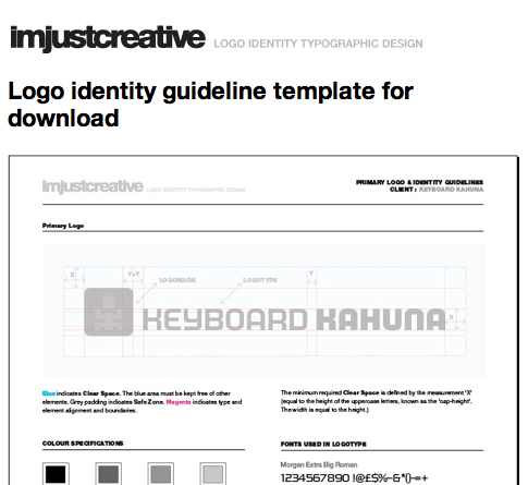 Designing style guidelines for brands and websites the for Free brand guidelines template