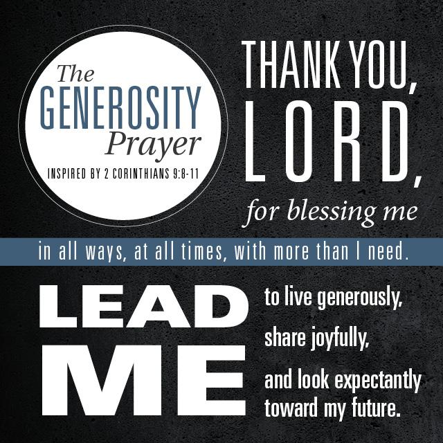 GenerosityPrayer